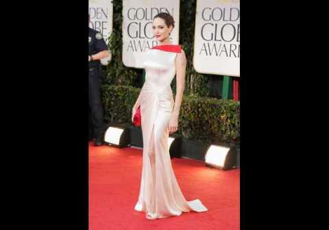 Angeline Jolie in a Atelier Versace gown