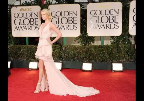 Charlize Theron in a Dior Couture dress